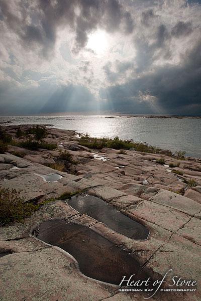 Stormy Weather, Hen Island, Georgian Bay. Photo by Sean Tamblyn.
