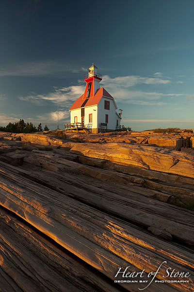 Snug Harbour Lighthouse, Snug Harbour, Georgian Bay. Photo by Sean Tamblyn.