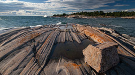Granite blocks, Franklin Island, Georgian Bay