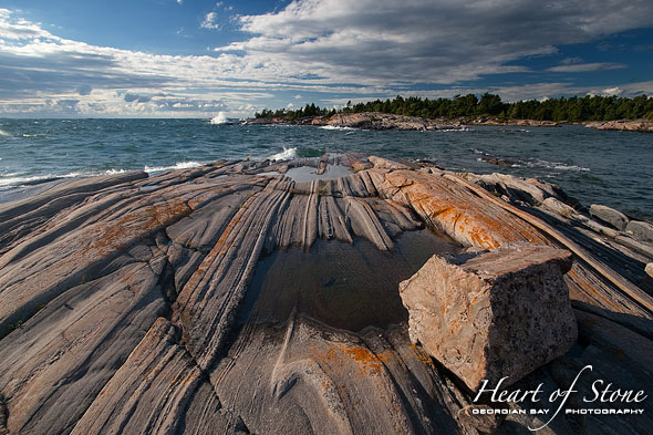 Granite blocks, Franklin Island, Georgian Bay