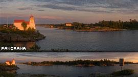 Point au Baril Lighthouse, Point au Baril, Georgian Bay. Photo by Sean Tamblyn.