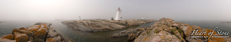 Bustard Island lighthouse panorama, Bustard Islands, Georgian Bay