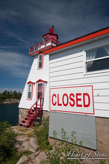 Closed lighthouse, Pointe au Baril, Georgian Bay