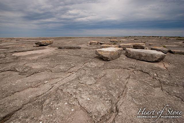 Flat limestone, North Limestone Island, Georgian Bay