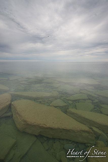 Submerged limestone, North Limestone Island, Georgian Bay