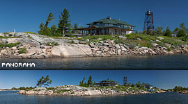 Rebuilt Duquesne Fishing Lodge, Duquesne Island, Georgian Bay