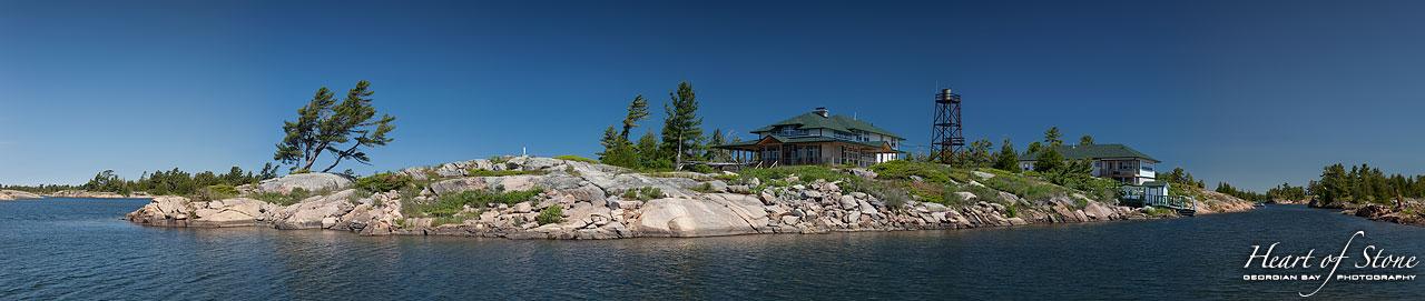 Rebuilt Duquesne Fishing Lodge, Duquesne Island, Georgian Bay