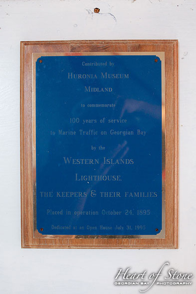 Huronia Plaque, Western Islands, Georgian Bay
