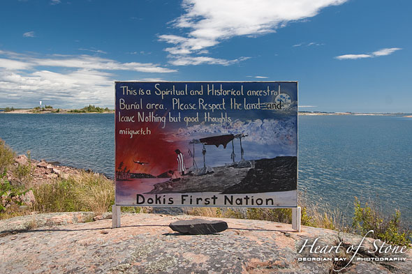Dokis First Nation Sign, Dead Island, Georgian Bay