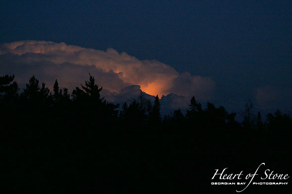 Lightning cloud, Vixen Island, Georgian Bay