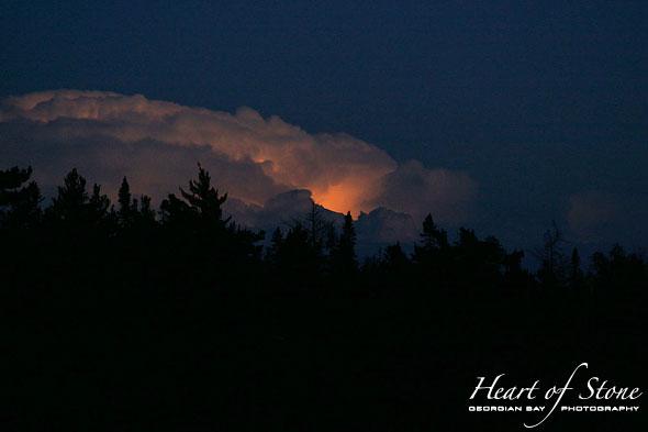 Lightning cloud, Vixen Island, Georgian Bay