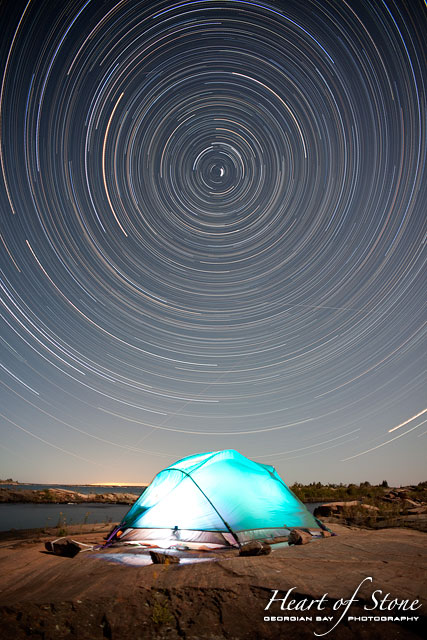 Room With A View Star Trails, Churchill Islands, Georgian Bay