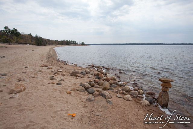 Empty beach, Killbear Provincial Park, Georgian Bay