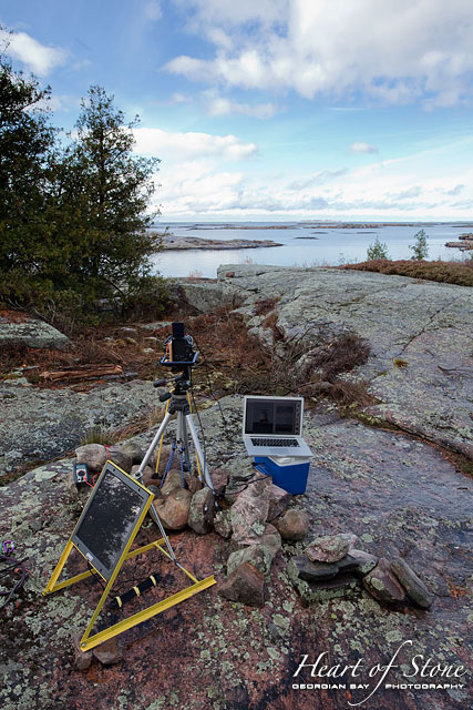 Remote camera setup, Georgian Bay Lighthouse Survey