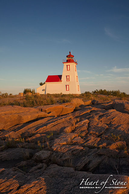 Gereaux Island Lighthouse, Byng Inlet, Georgian Bay