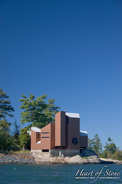 Modern cottage architecture, Bayfield Inlet, Georgian Bay
