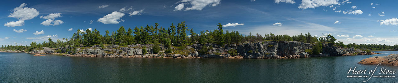 Shoreline panorama, Olga Island, Georgian Bay