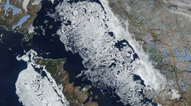 Georgian Bay Ice Watch, April 19 2014, NOAA Modis 205m