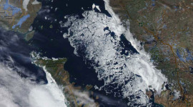Georgian Bay Ice Watch, April 24 2014, NOAA MODIS 250m