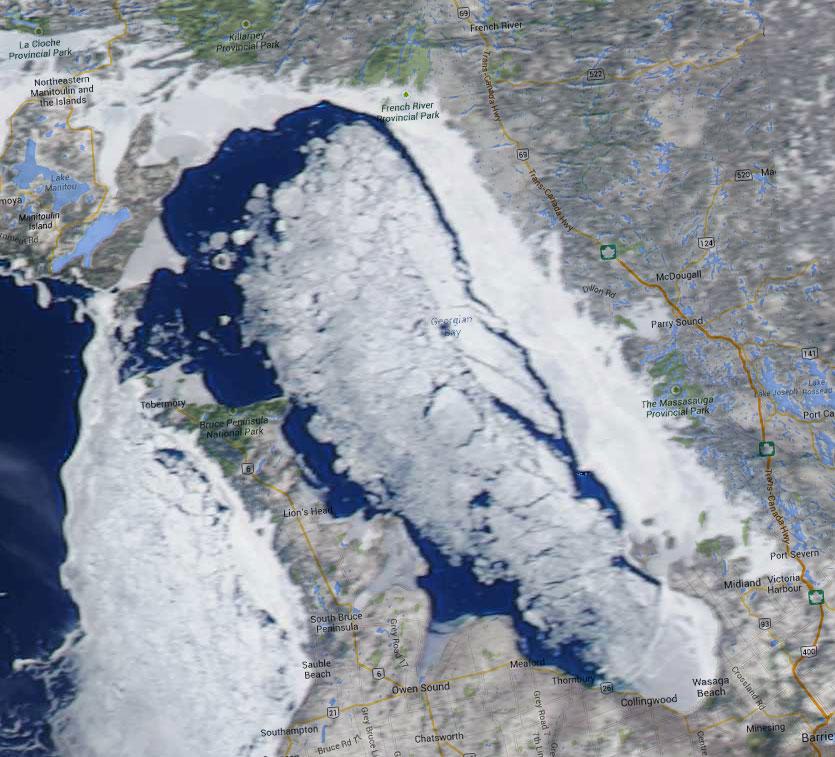 Georgian Bay Icewatch, April 9 2014