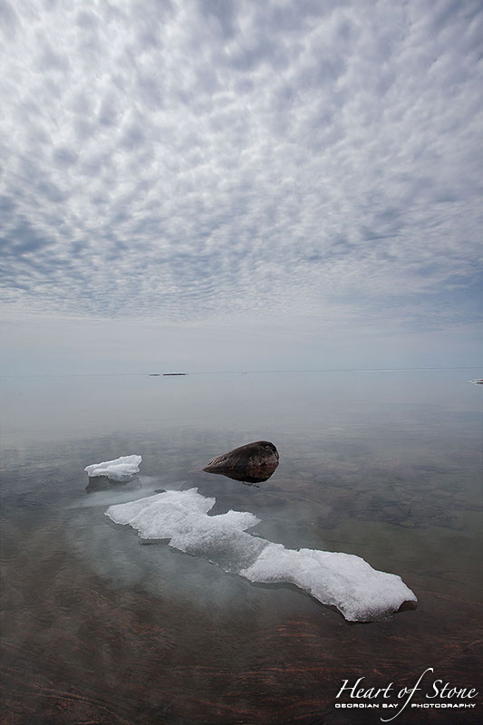Last of the 2014 ice, Snake Islands, Georgian Bay