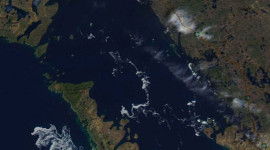 Georgian Bay Ice Watch, May 6 2014, NOAA MODIS 250m
