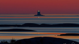 Twilight over Red Rock lighthouse, Mink Islands, Georgian Bay