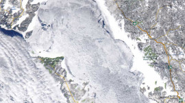 Georgian Bay Ice Watch, Feb 19 2015, NOAA MODIS 250m