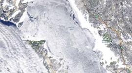 Georgian Bay Ice Watch, Feb 19 2015, NOAA MODIS 250m