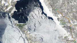 Georgian Bay Ice Watch, Mar 23 2015, NOAA MODIS 250m