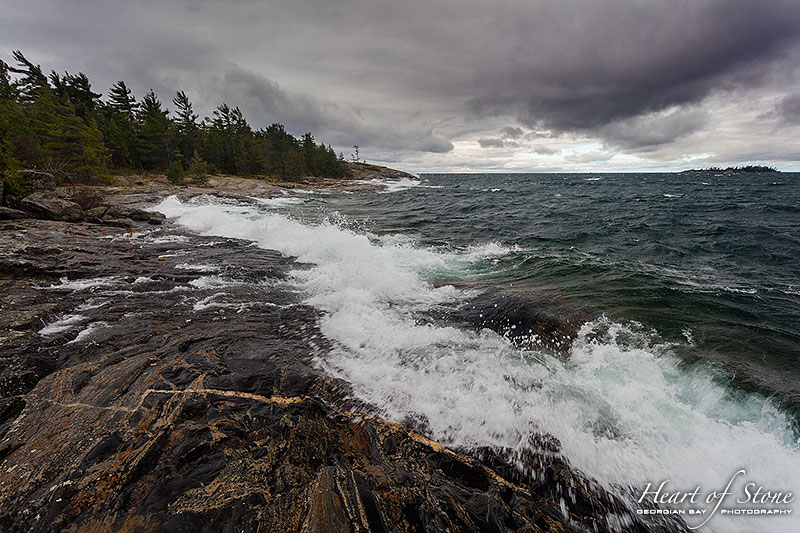November storm waves, Wreck Island, Georgian Bay