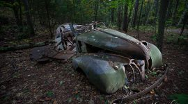 Abandoned 1939 Pontiac, Granite Ridge Trail, Killarney Provincial Park, Georgian Bay