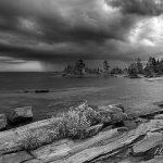 Storm clouds over Cathcart Island, Parry Sound, Georgian Bay