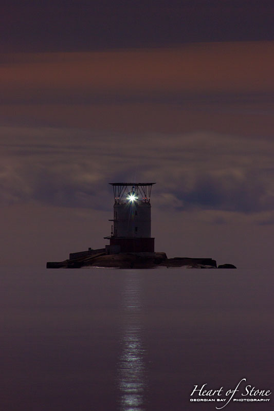Witching Hour over Red Rock Lighthouse, Mink Station, Georgian Bay