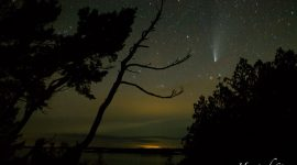 Comet Neowise over the Voyageur Channel, French River Provincial Park, Georgian Bay