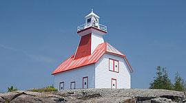 Jones Island Lighthouse, Jones Island, Georgian Bay. Photo by Sean Tamblyn.