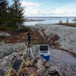 Remote camera setup, Georgian Bay Lighthouse Survey