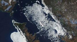 Georgian Bay Ice Watch, April 23 2014, NOAA MODIS 250m