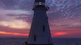 Sunrise over Doubletop Island lighthouse, Western Islands, Georgian Bay