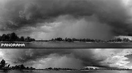 Massive storm front panorama, Outer Fox Islands, Georgian Bay