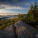 Summer sun on undulating granite, Gaspar Island, Franklin Island, Georgian Bay